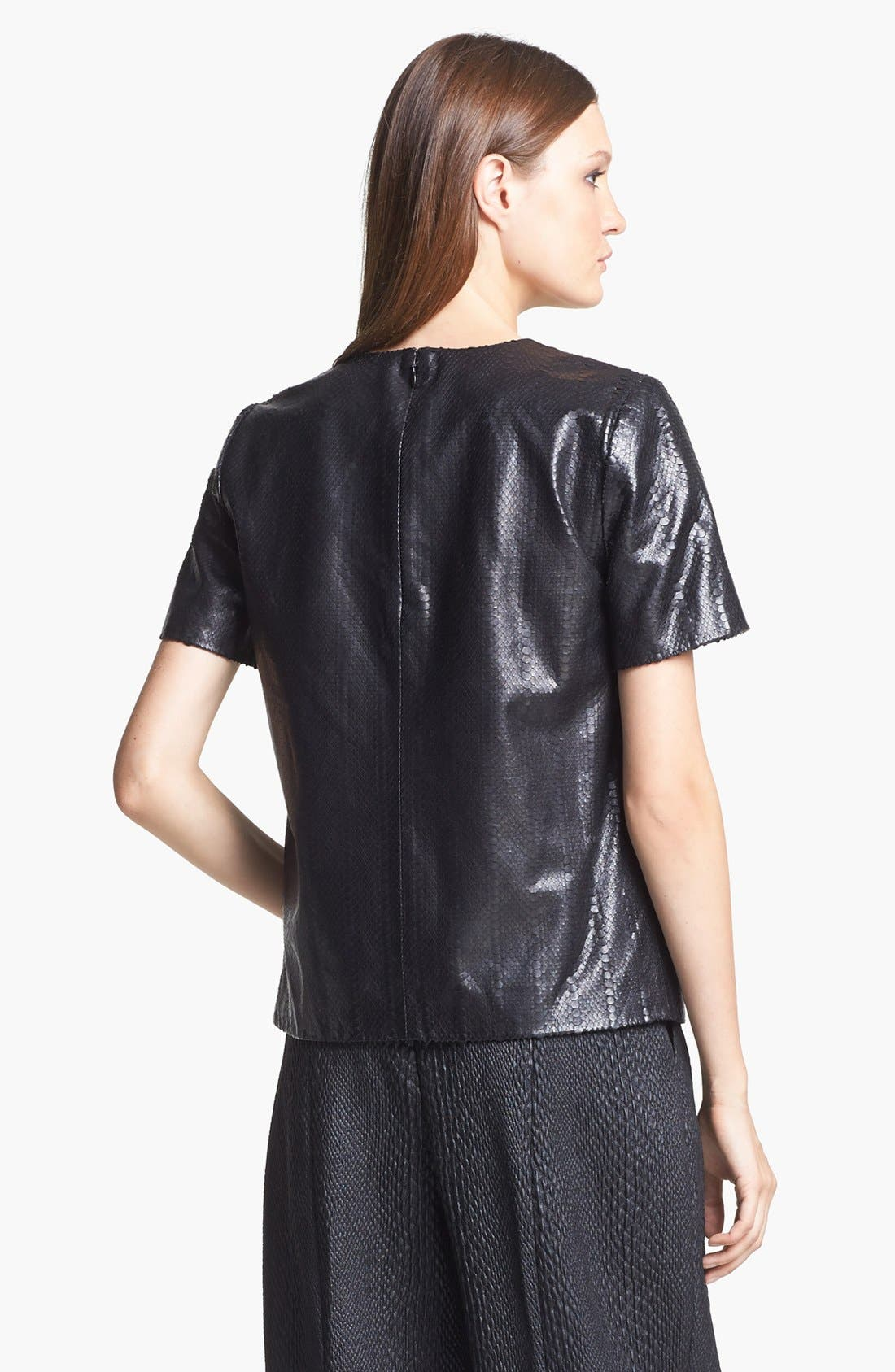 Alternate Image 2  - J Brand Ready-to-Wear 'Marilena' Leather Tee