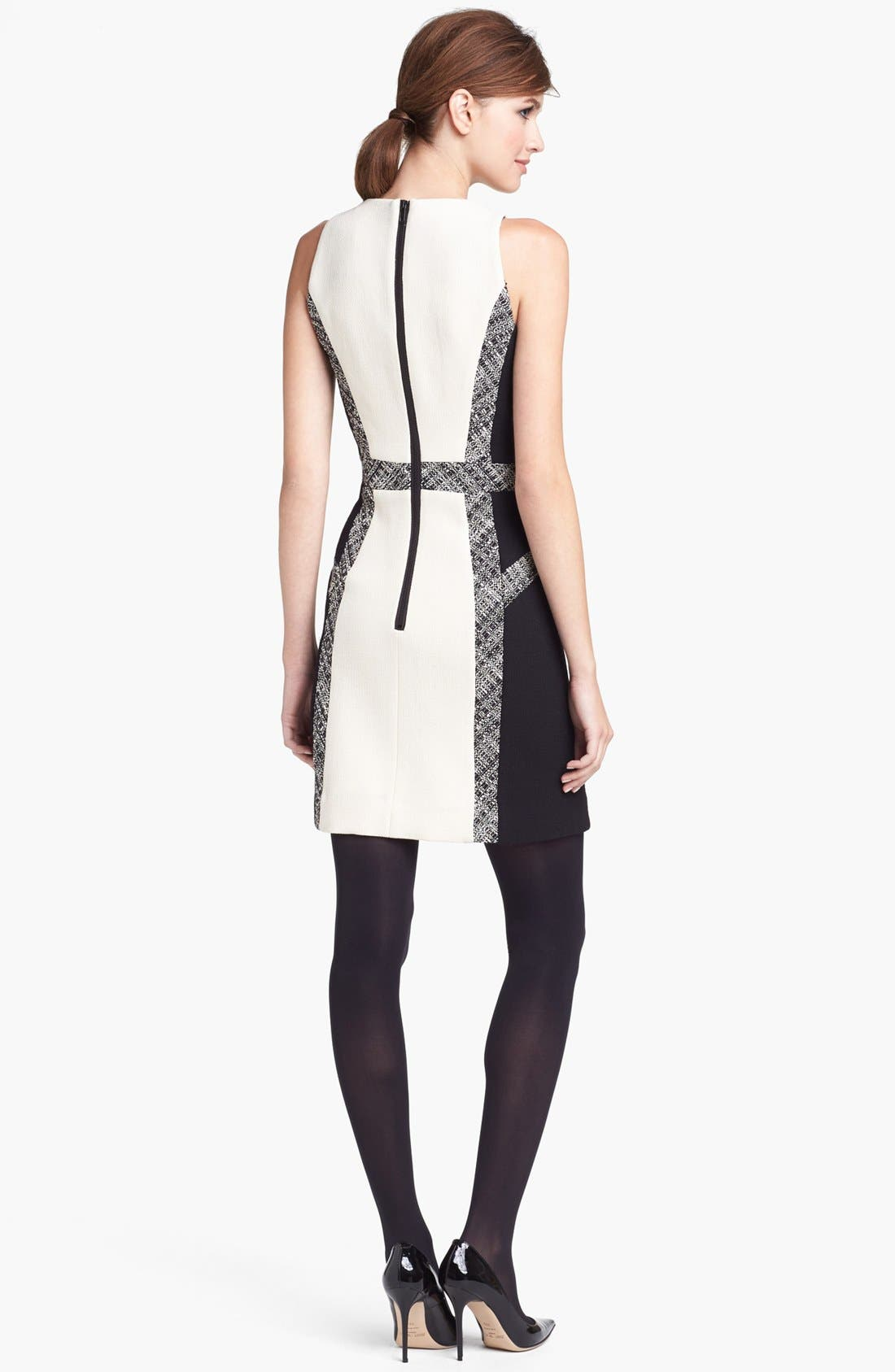 Alternate Image 2  - Milly Tweed Inset Wool Sheath Dress