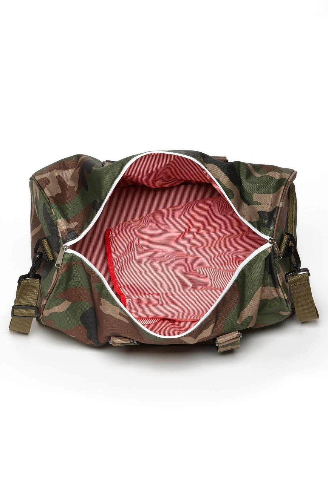 'Novel' Duffel Bag,                             Alternate thumbnail 3, color,                             Woodland Camo