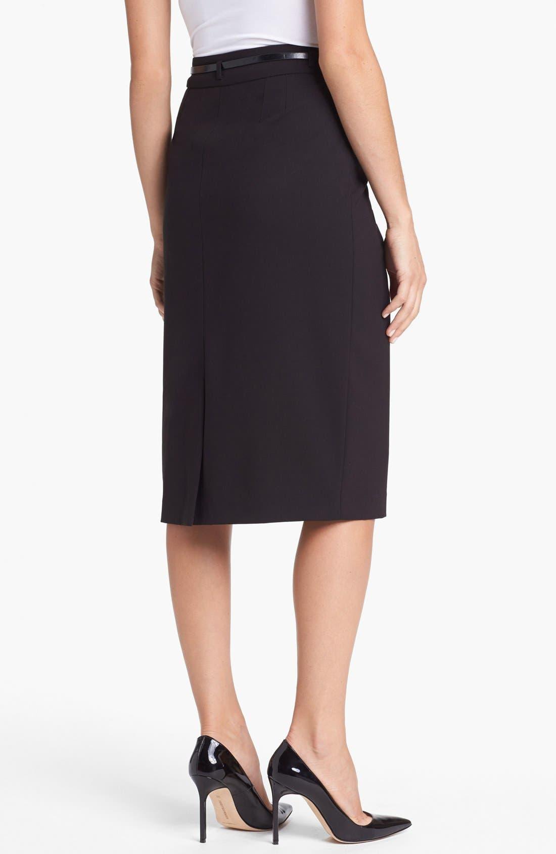 Alternate Image 2  - Jones New York 'Jacqueline' Belted Column Skirt