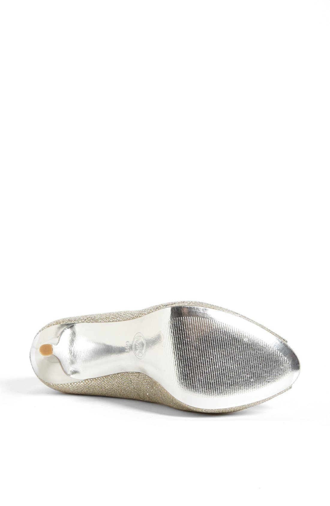 'York' Platform Pump,                             Alternate thumbnail 4, color,                             Silver