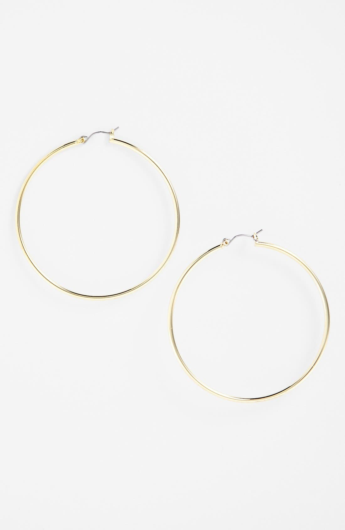 Alternate Image 1 Selected - Lauren Ralph Lauren Large Hoop Earrings