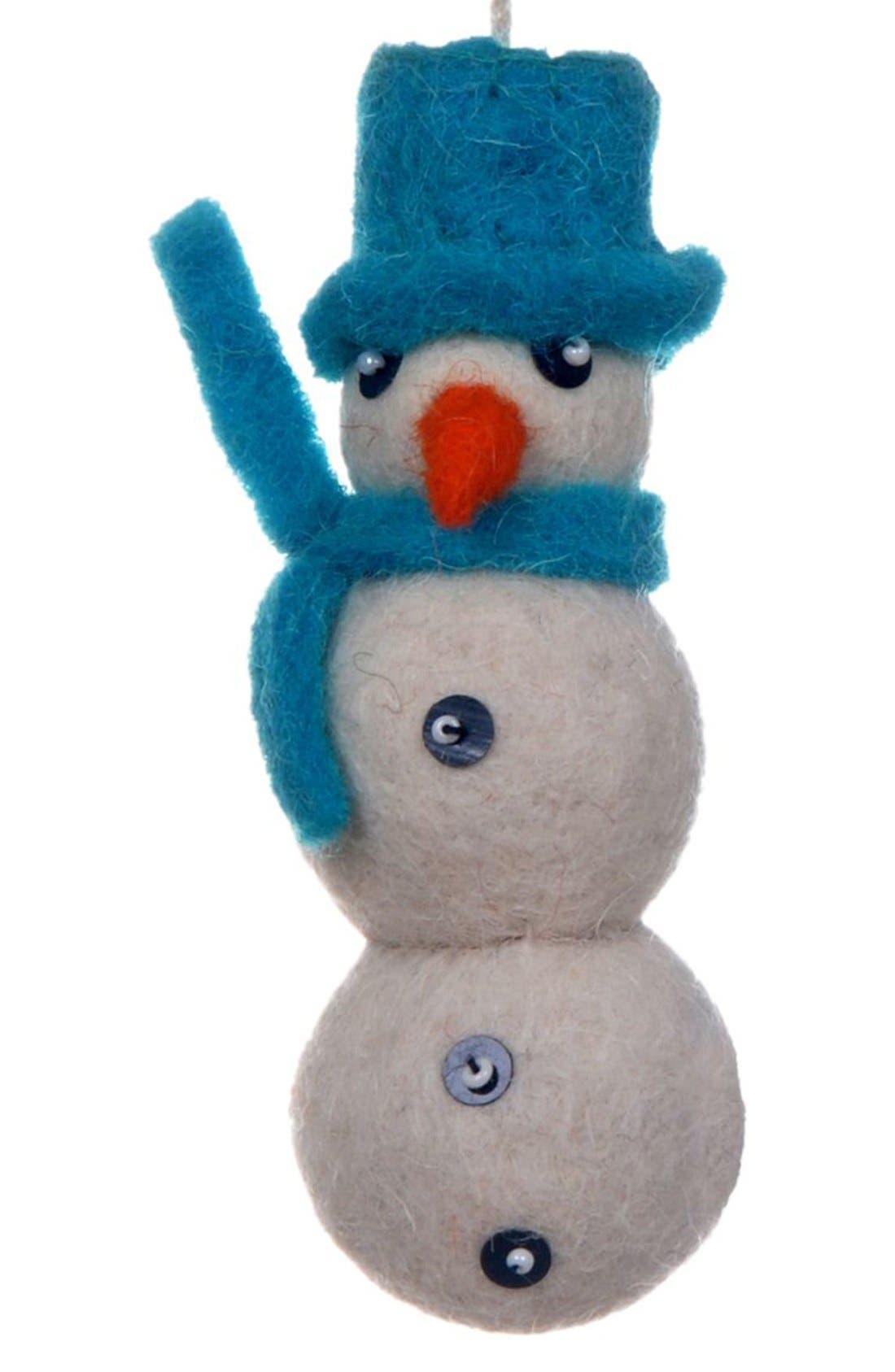 Main Image - Creative Co-Op Snowman Ornament