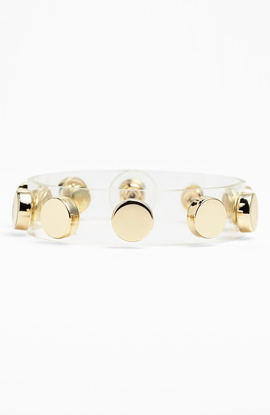 Main Image - Cara Couture Studded Clear Thin Bracelet