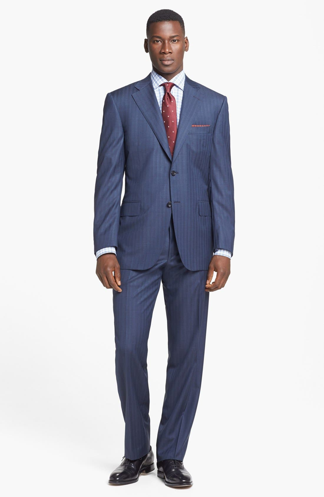 Alternate Image 1 Selected - Canali Suit & BOSS HUGO BOSS Dress Shirt