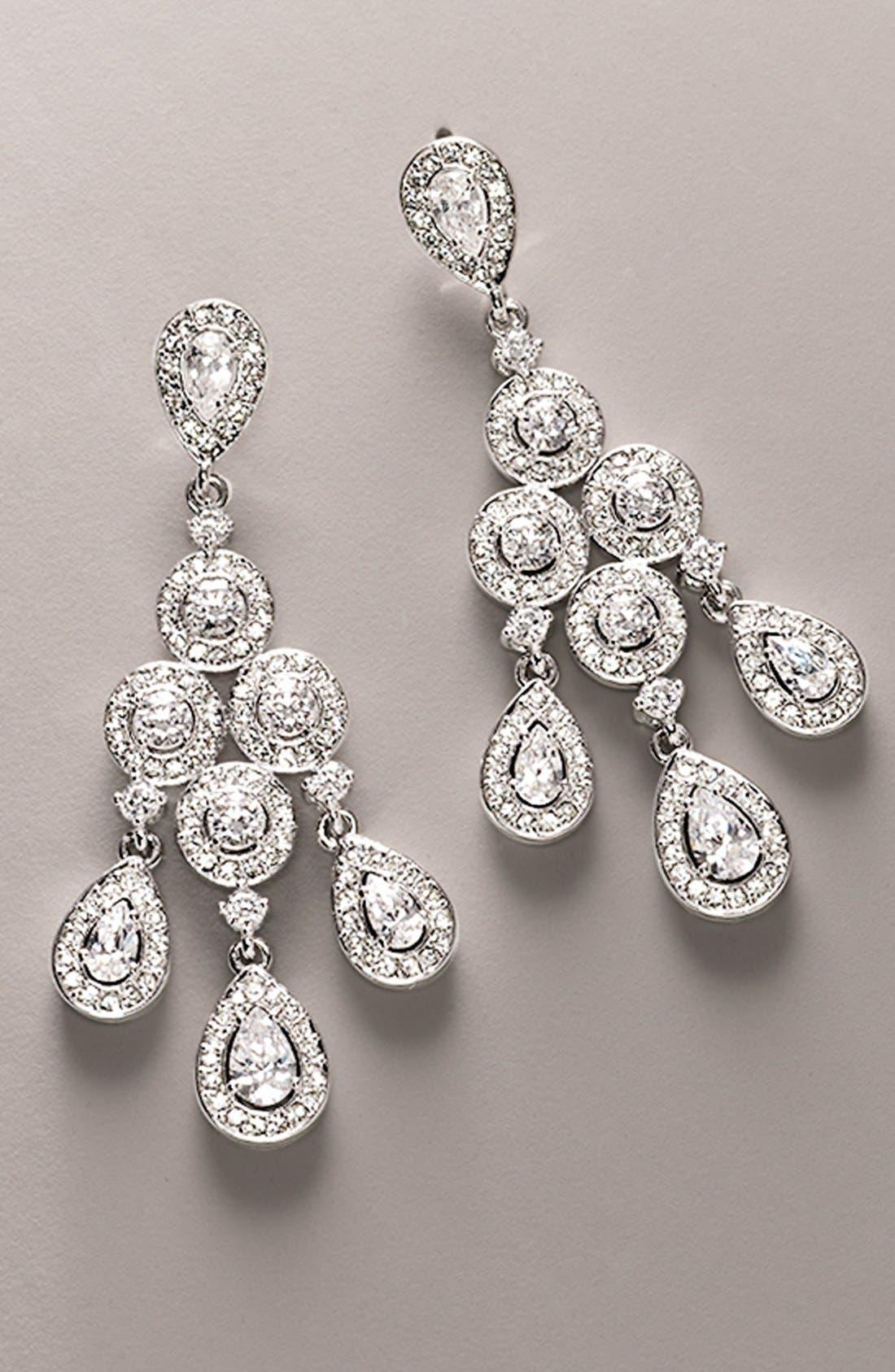 Alternate Image 4  - Nadri Framed Chandelier Earrings
