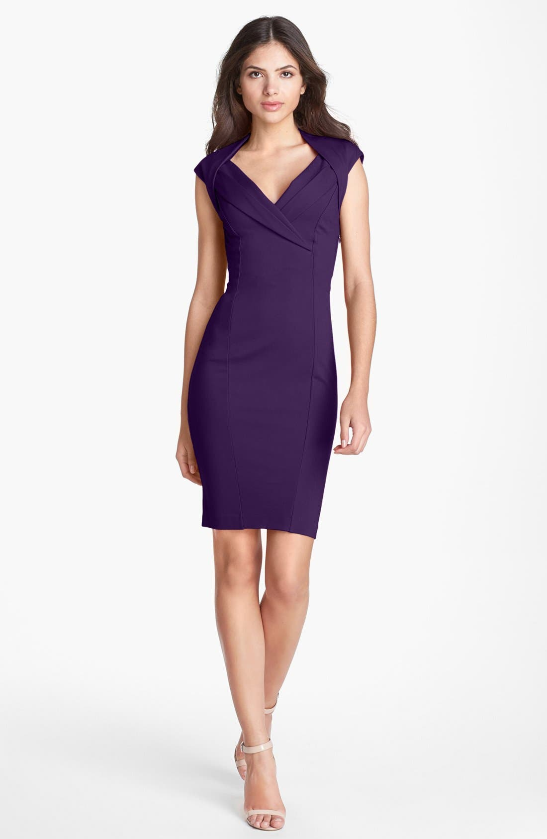 Main Image - Ted Baker London Crossover Stretch Body-Con Dress