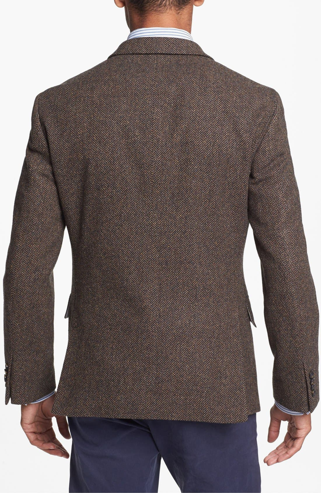 Alternate Image 3  - Wallin & Bros. Extra Trim Fit Herringbone Sportcoat