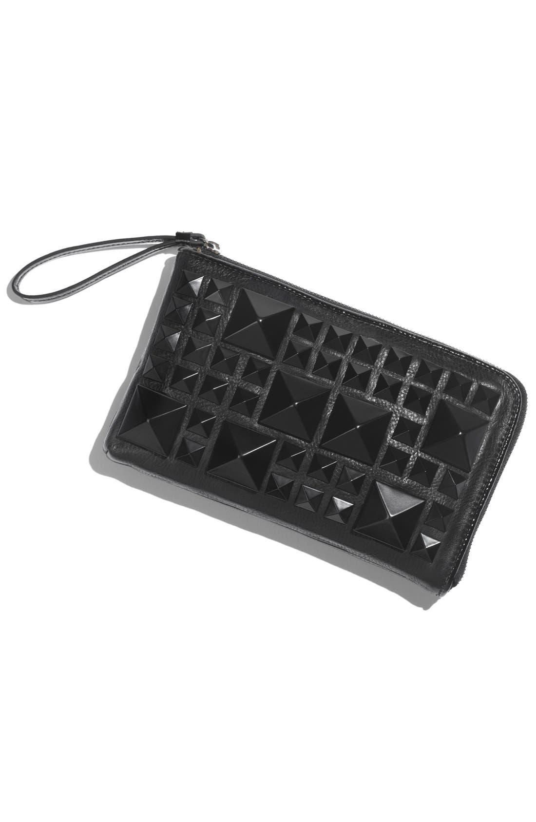 Alternate Image 5  - POVERTY FLATS by rian Matte Pyramid Stud Zip Clutch