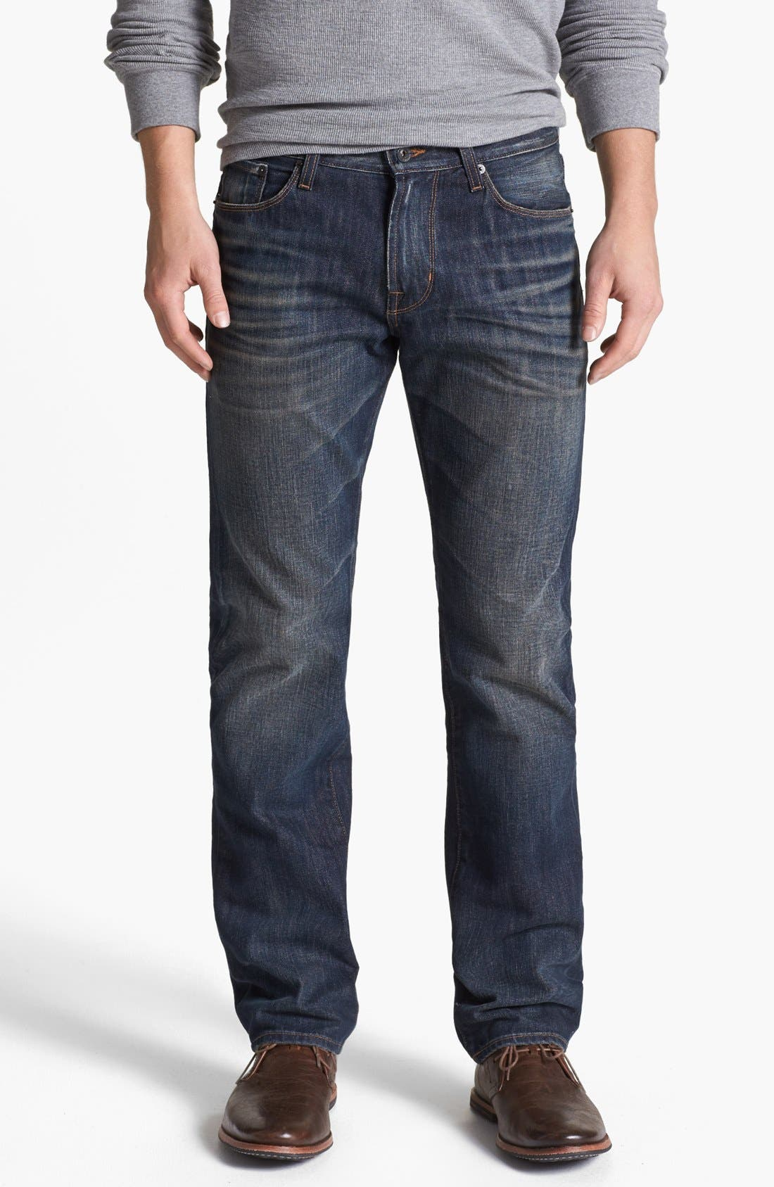 Alternate Image 1 Selected - Big Star 'Division' Straight Leg Jeans (6 Year Piston)