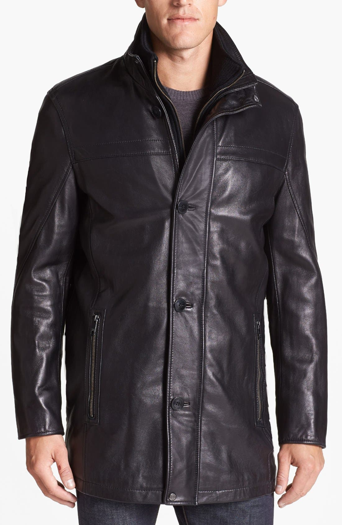 by Andrew Marc 'Spruce' Jacket,                         Main,                         color, Black