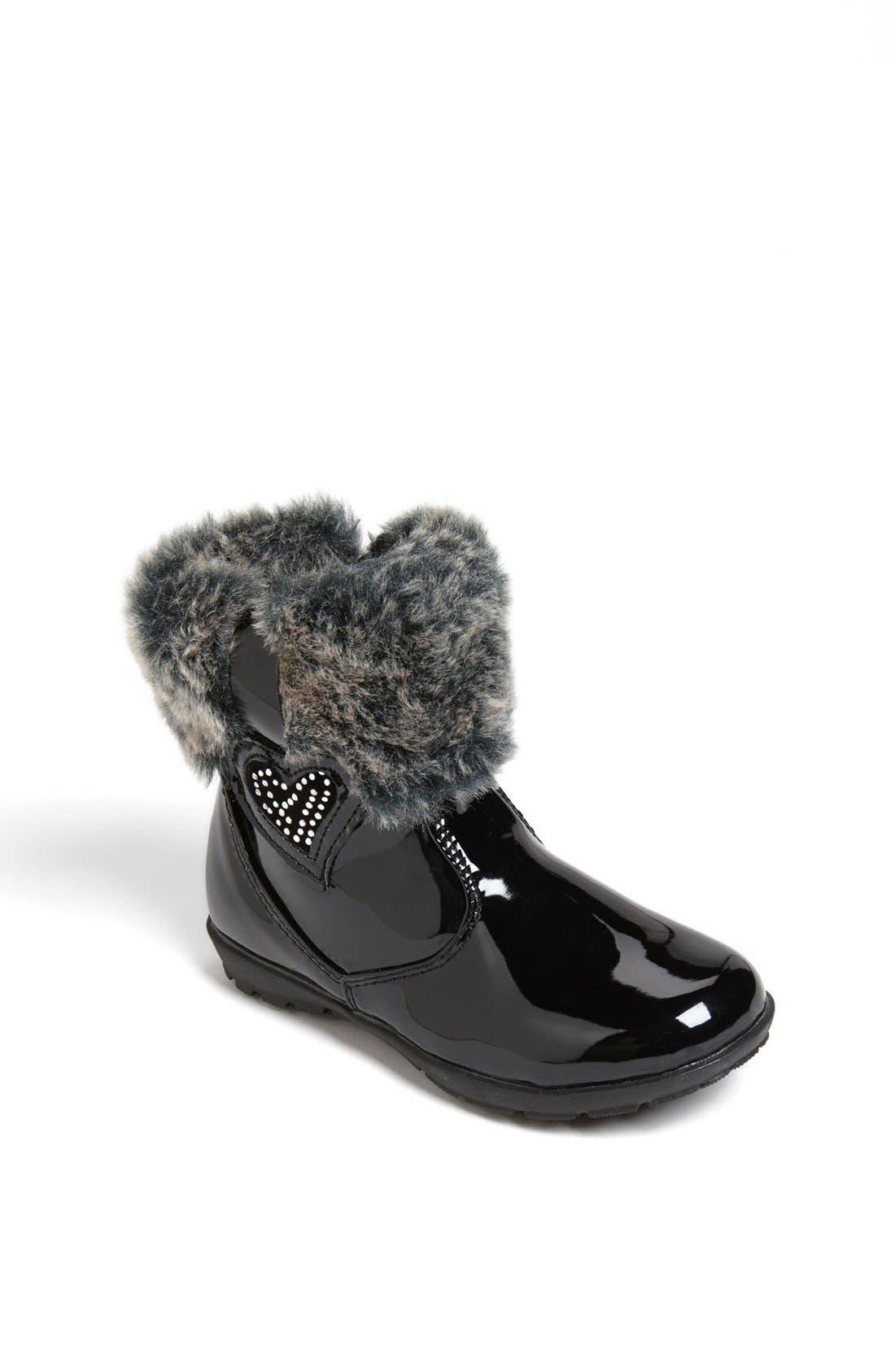 Main Image - kensie girl Faux Fur Trim Boot (Walker & Toddler)