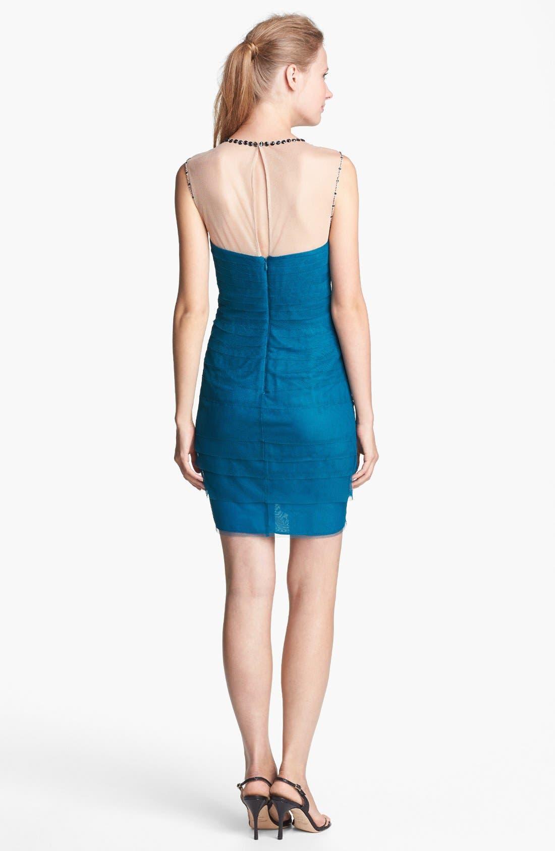 Alternate Image 3  - Adrianna Papell Embellished Tiered Mesh Sheath Dress