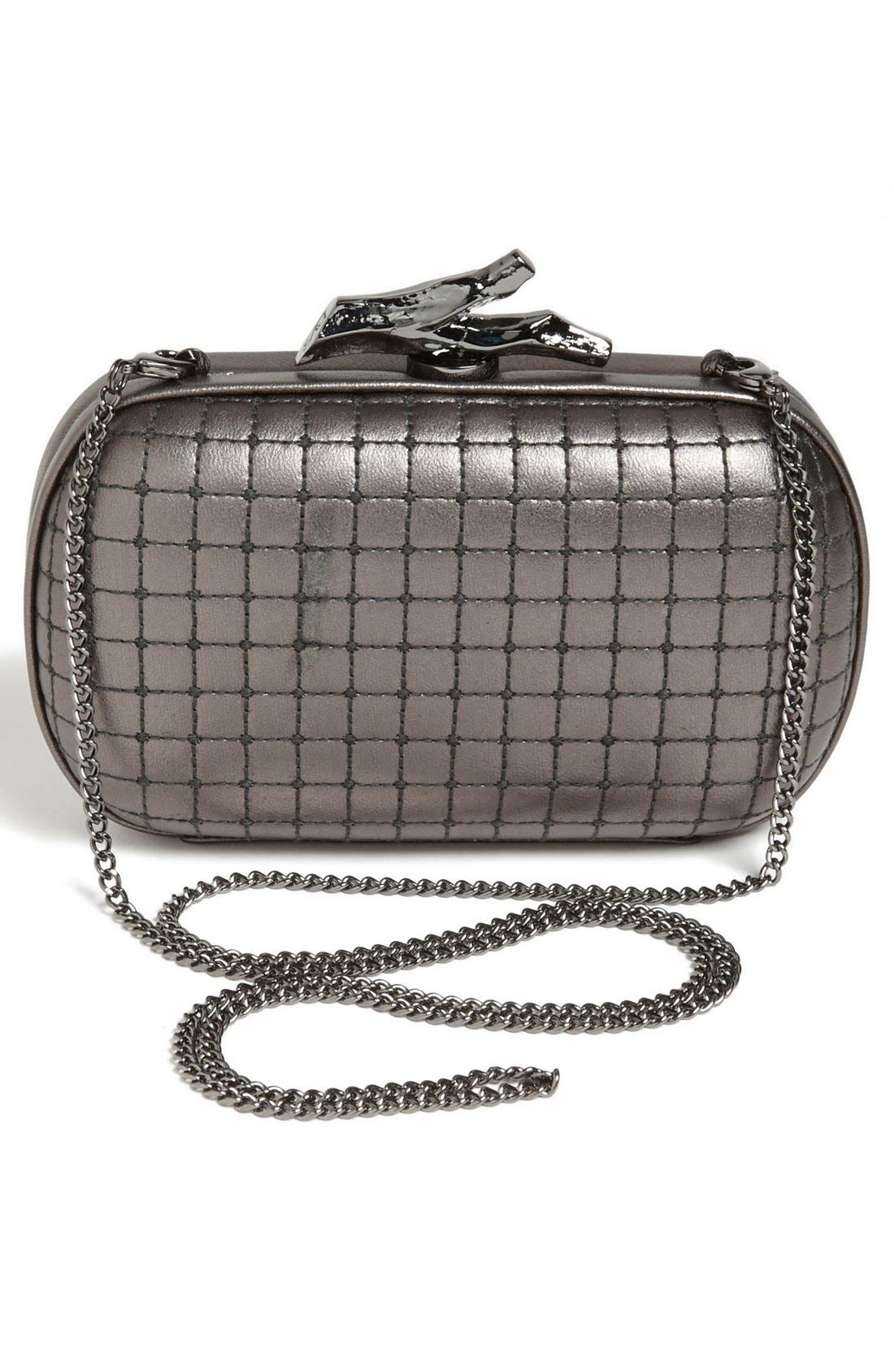Alternate Image 4  - Diane von Furstenberg 'Lytton - Small' Quilted Metallic Leather Clutch