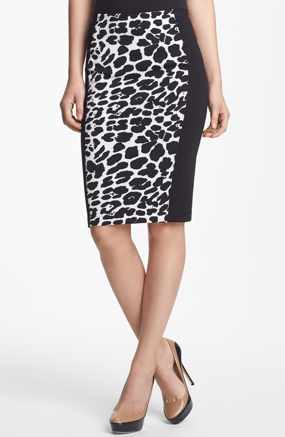 Main Image - Robbi & Nikki Animal Print Pencil Skirt