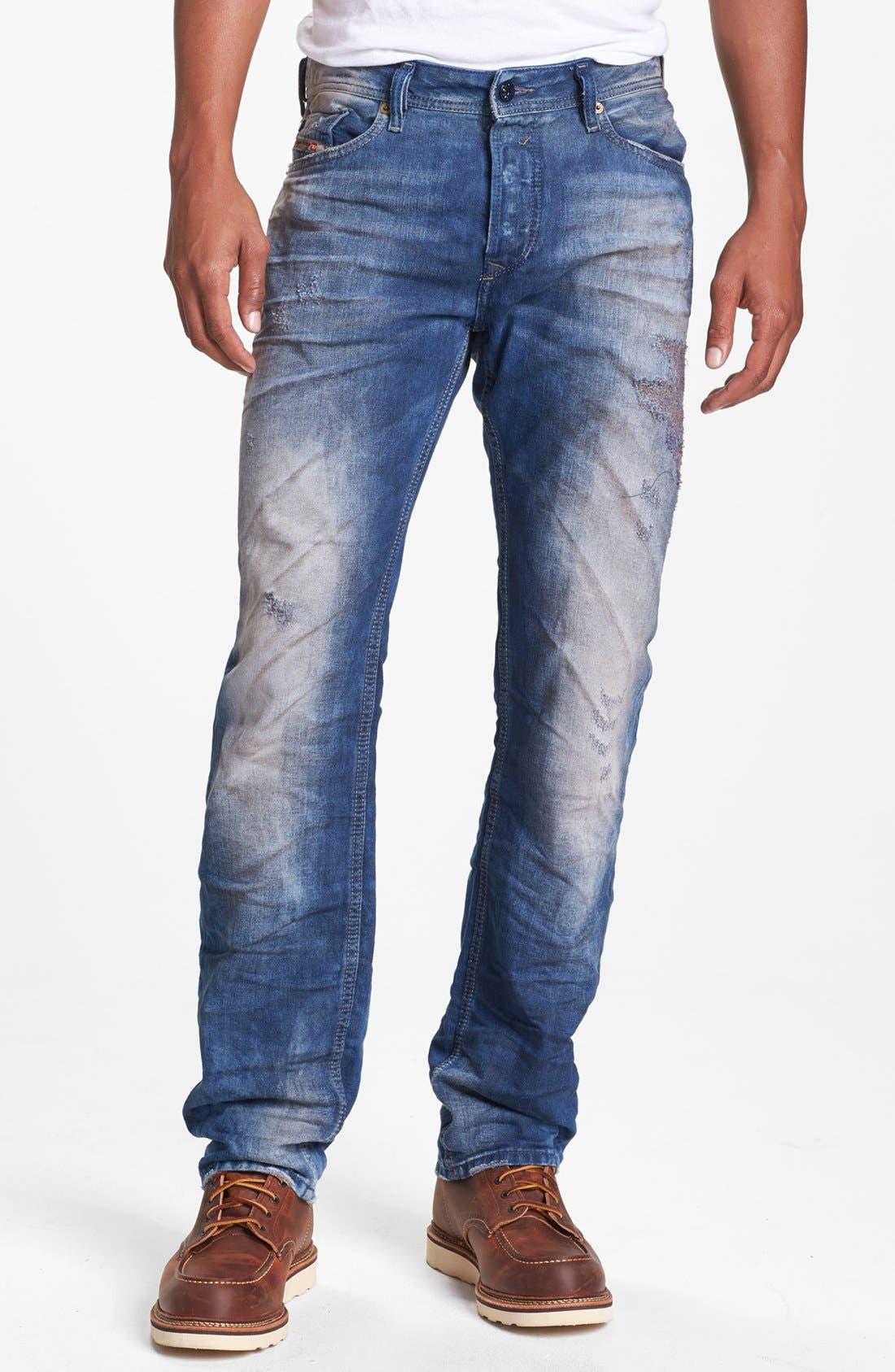 Alternate Image 2  - DIESEL® 'Waykee' Straight Leg Selvedge Jeans (0603Z)