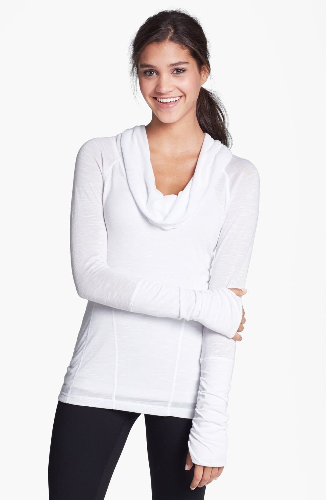 Main Image - Zella 'All Shirred Up' Pullover