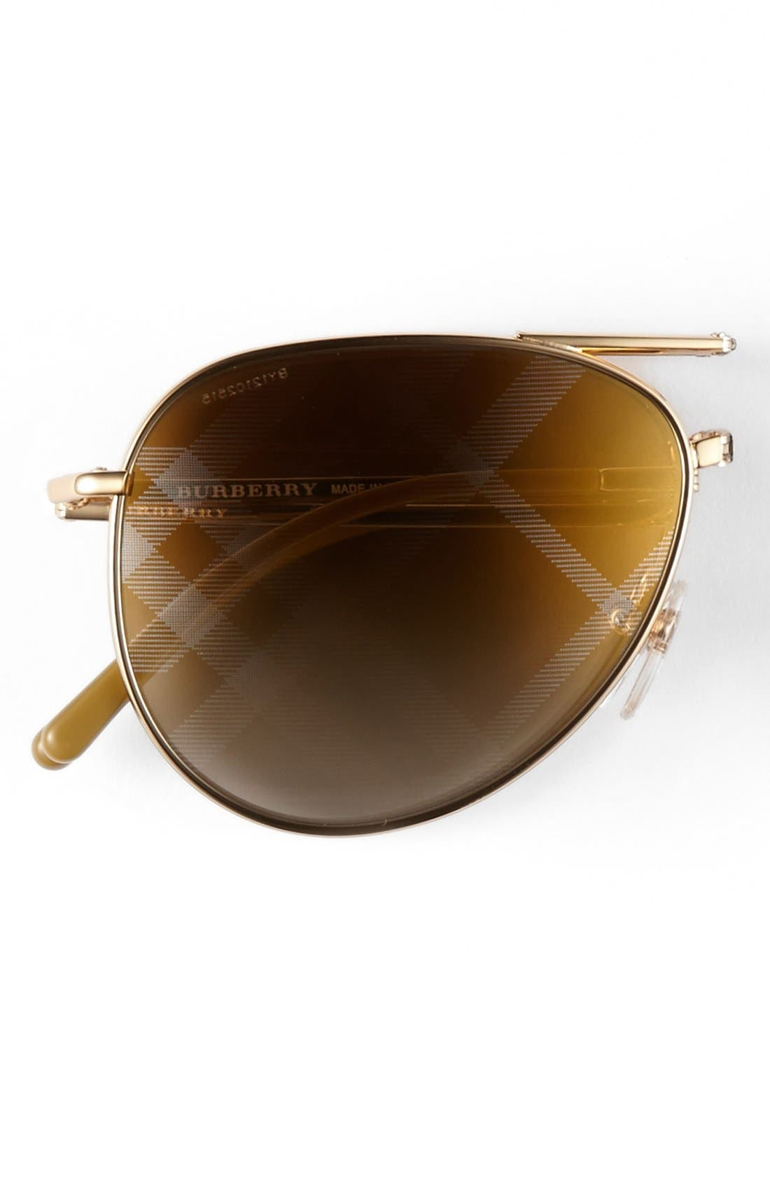 Alternate Image 2  - Burberry 57mm Aviator Sunglasses