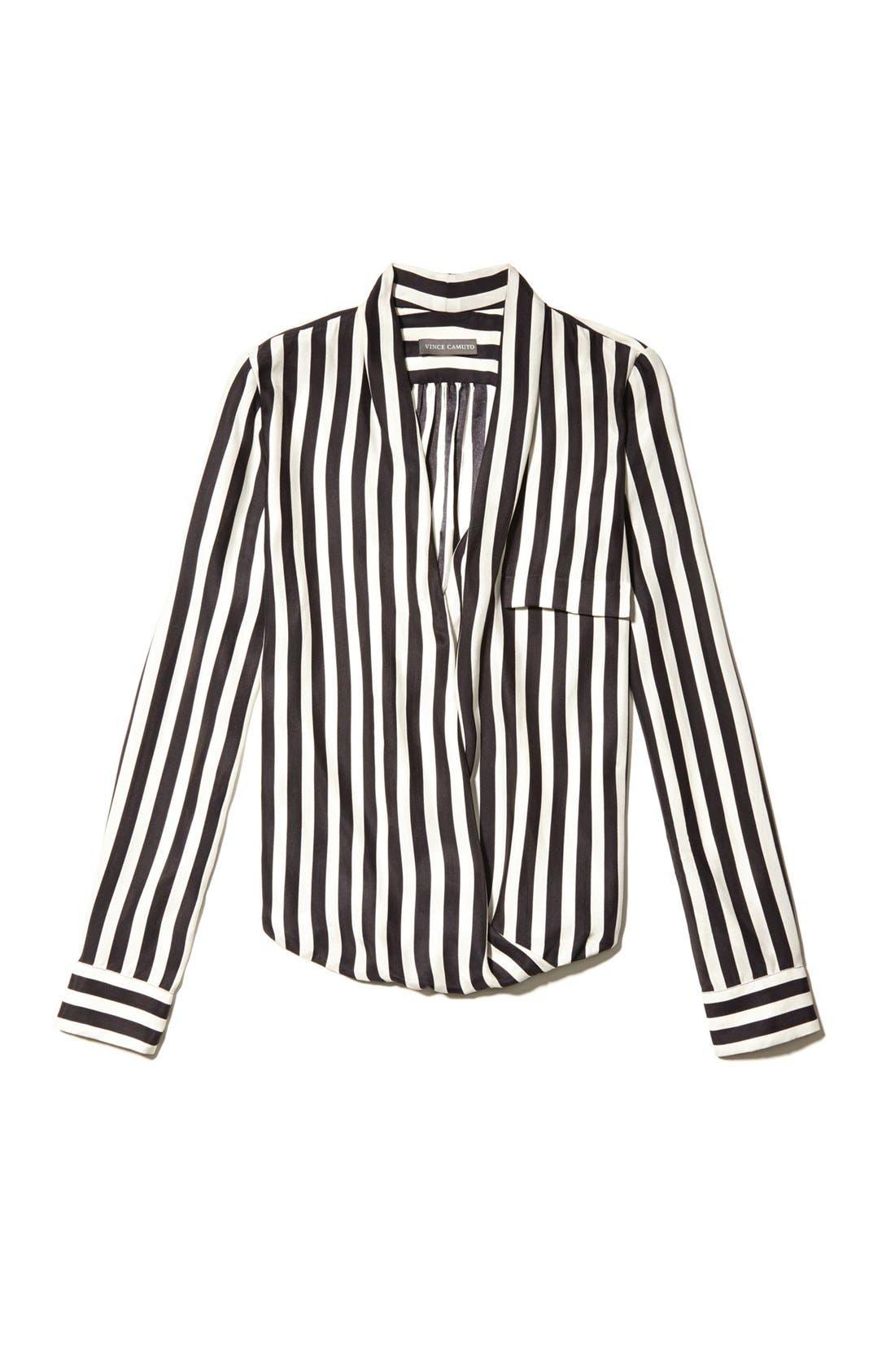 Alternate Image 4  - Vince Camuto Faux Wrap Stripe Blouse