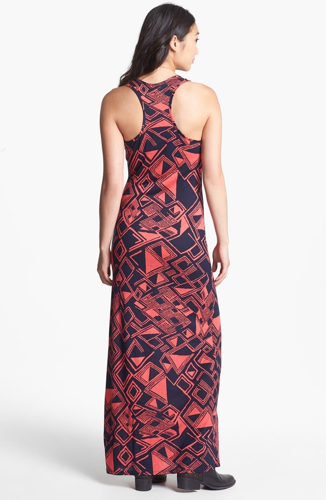 Alternate Image 2  - Minty Racerback Maxi Dress (Juniors) (Online Only)