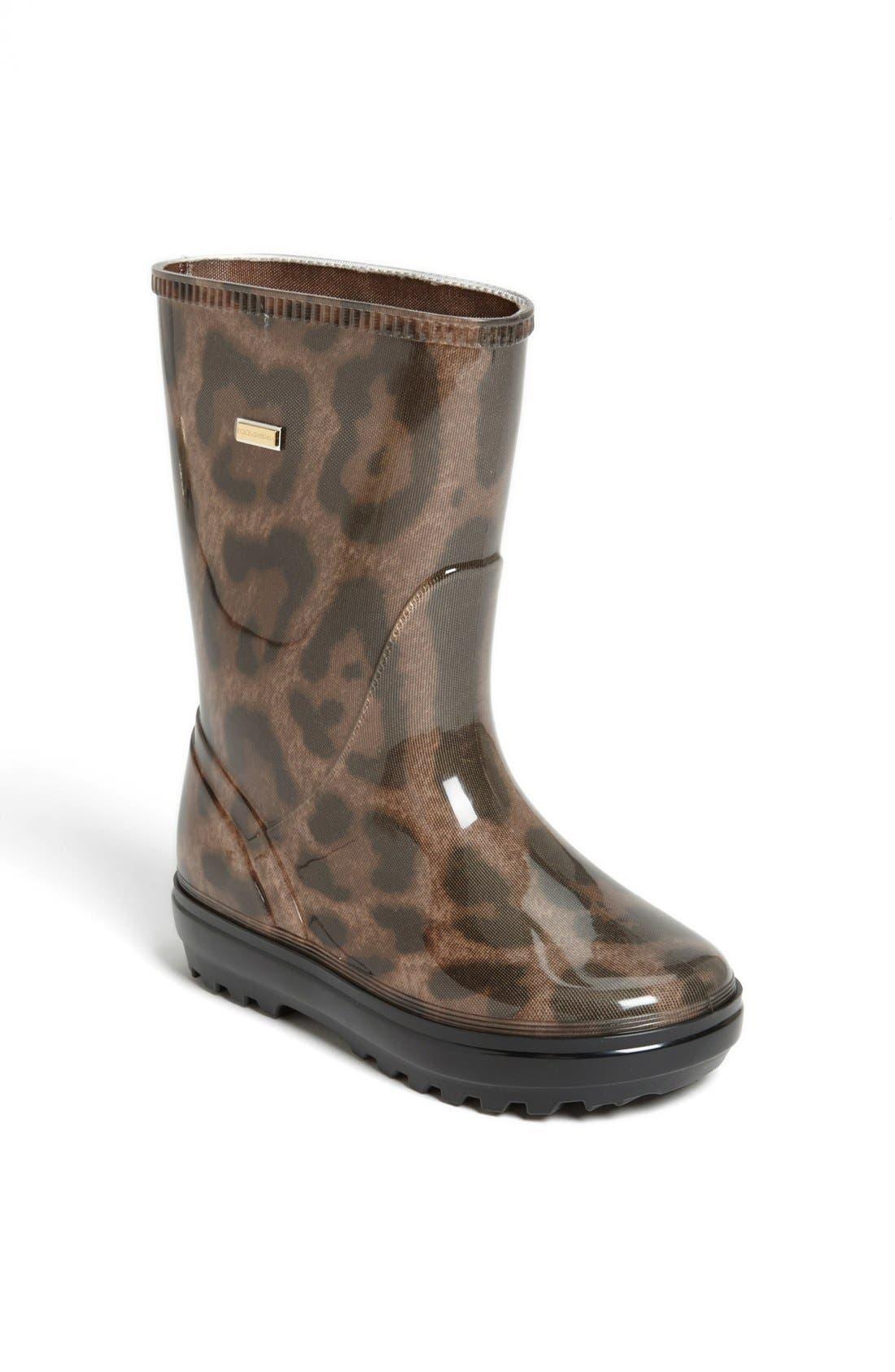Main Image - Dolce&Gabbana 'Leo' Rain Boot (Walker, Toddler, Little Kid & Big Kid)