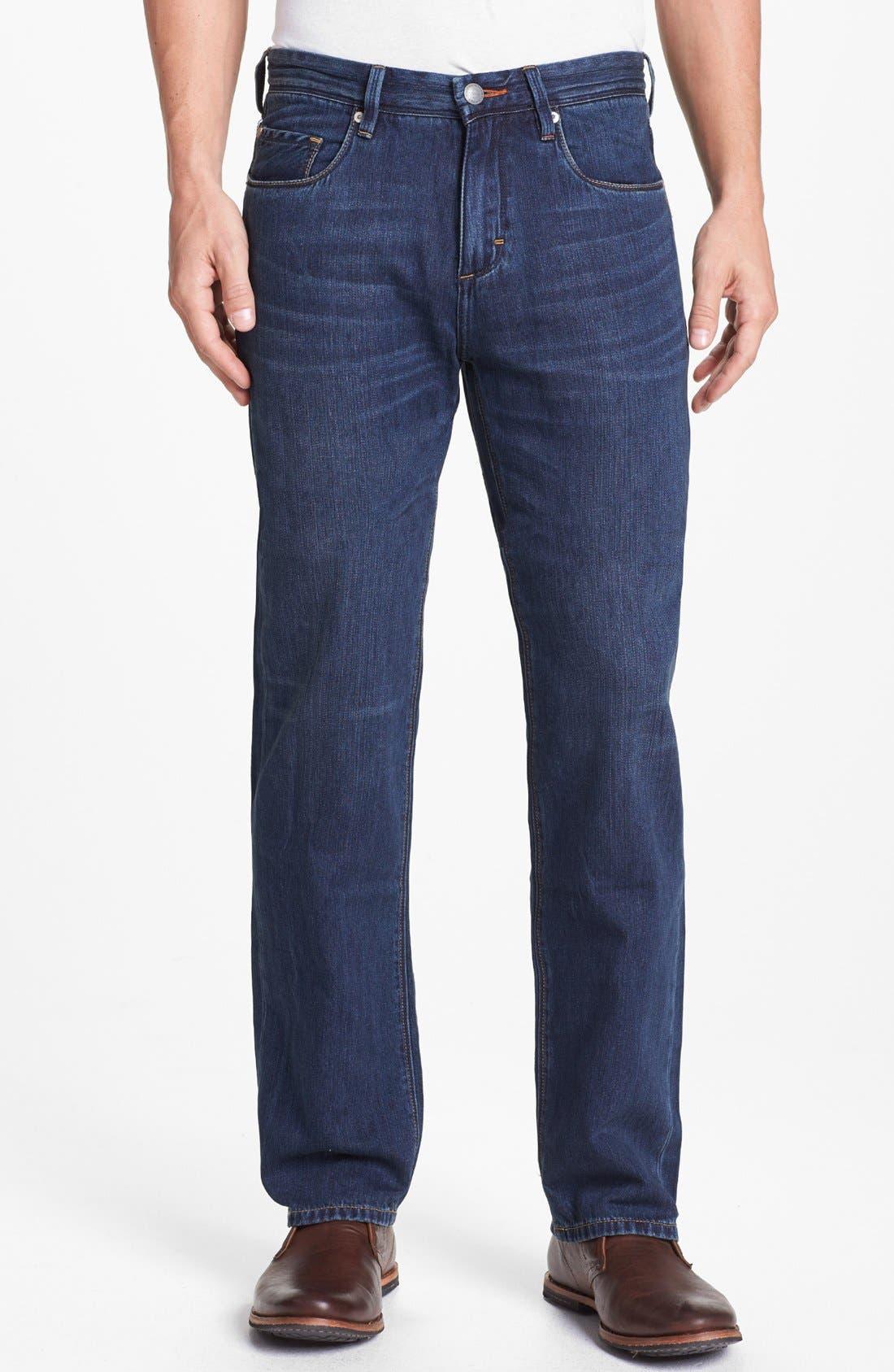 Main Image - Tommy Bahama Denim 'Coastal Island' Standard Fit Jeans (Dark Storm)