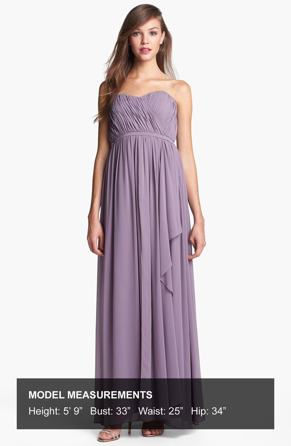 Alternate Image 4  - Donna Morgan 'Lily' Draped Chiffon Dress