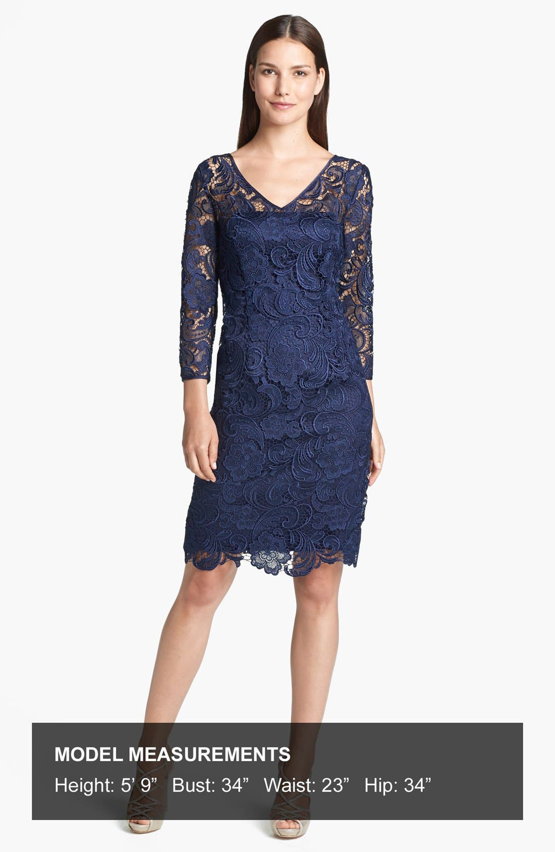Alternate Image 4  - Adrianna Papell Guipure Lace Sheath Dress