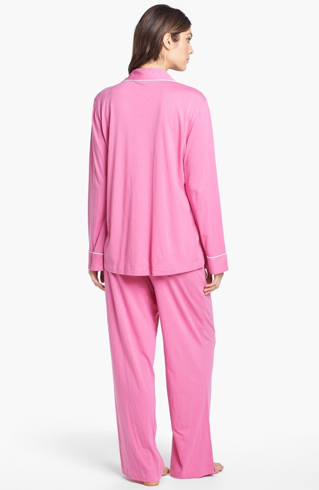 Knit Pajamas,                             Alternate thumbnail 2, color,                             Portofino Pink