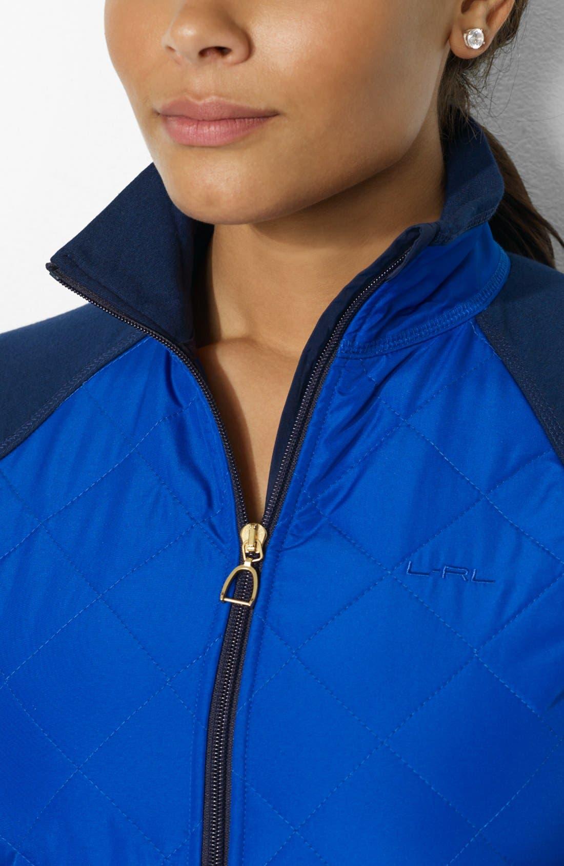 Alternate Image 3  - Lauren Ralph Lauren Woven Front Track Jacket (Plus Size)