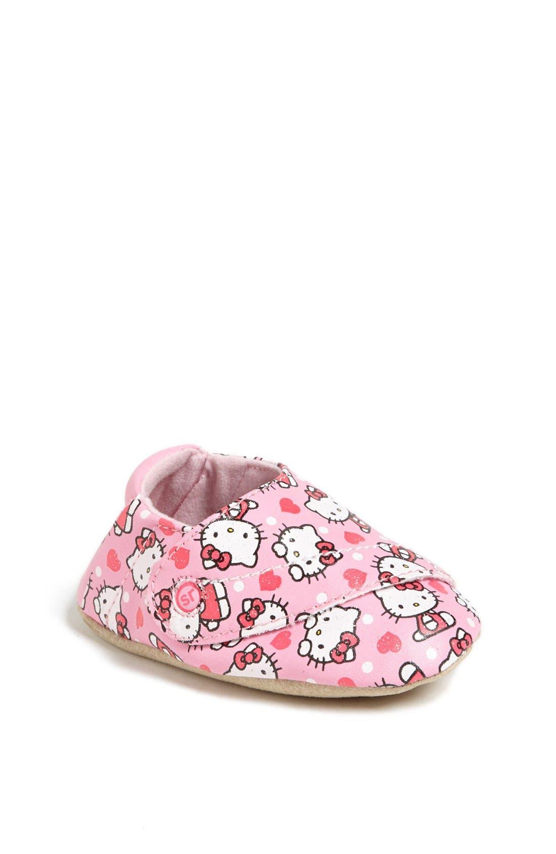 Alternate Image 1 Selected - Stride Rite 'Hello Kitty®' Crib Shoe (Baby Girls)
