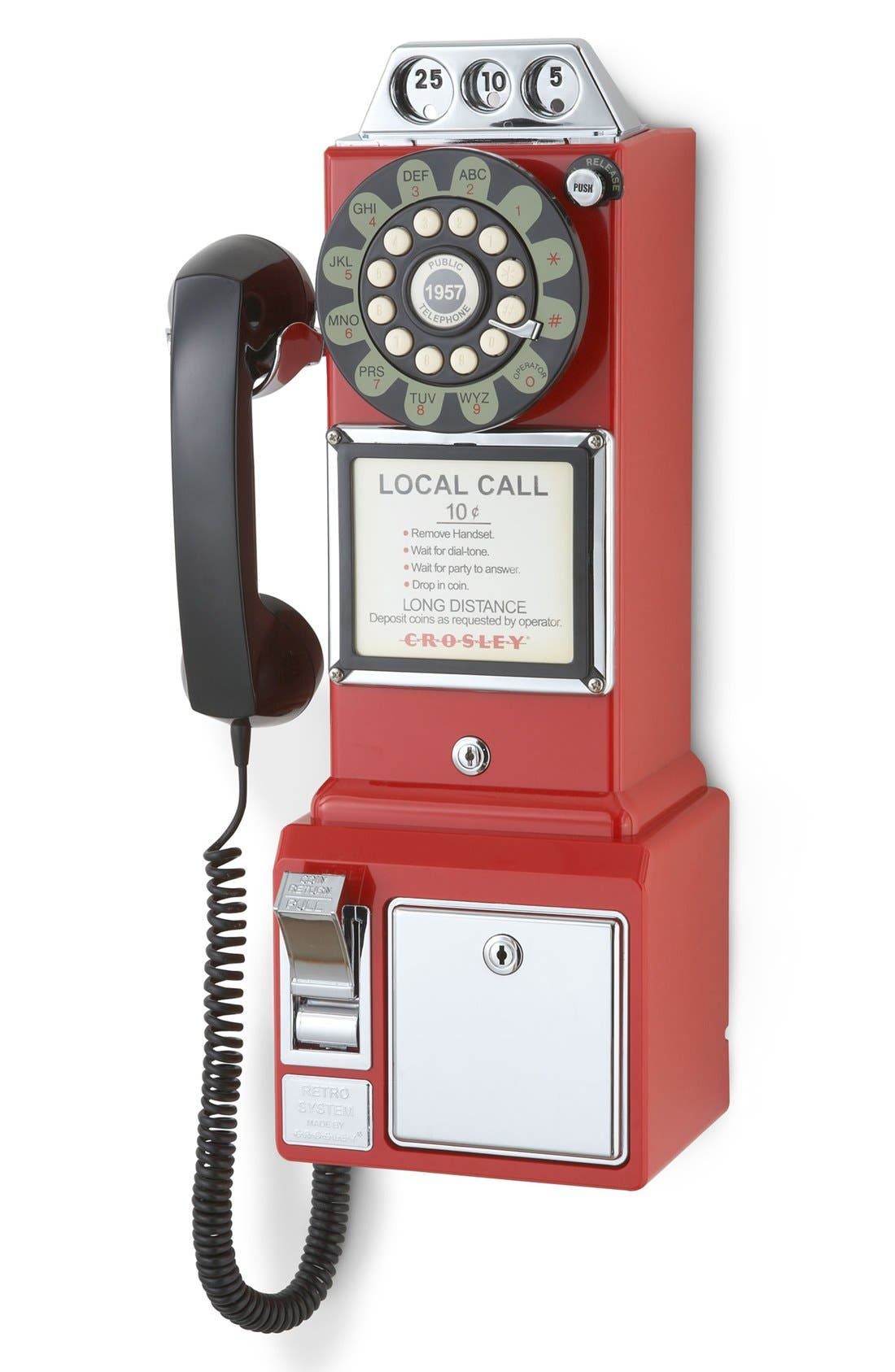 'Pay Phone' Wall Phone,                             Alternate thumbnail 2, color,                             Red