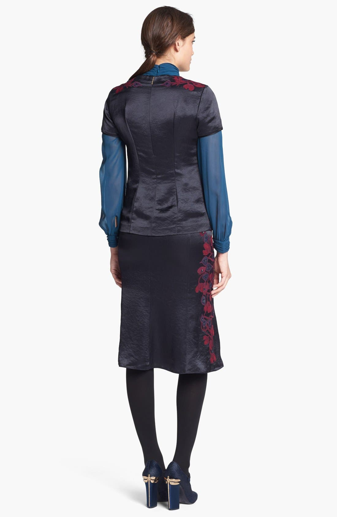 Alternate Image 5  - Tory Burch 'Uma' Embellished Midi Skirt