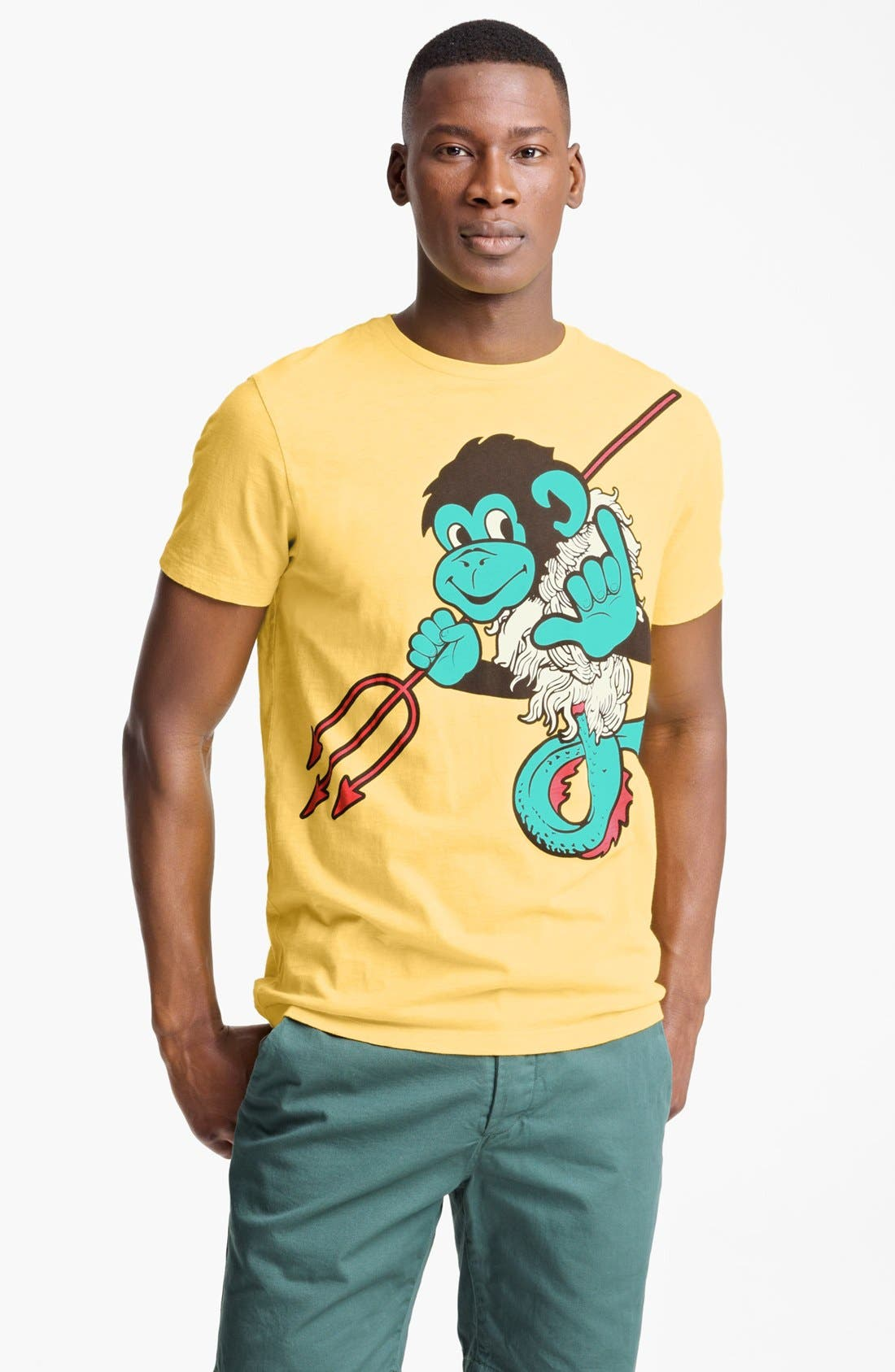Alternate Image 1 Selected - Paul Smith Jeans Monkey Print T-Shirt
