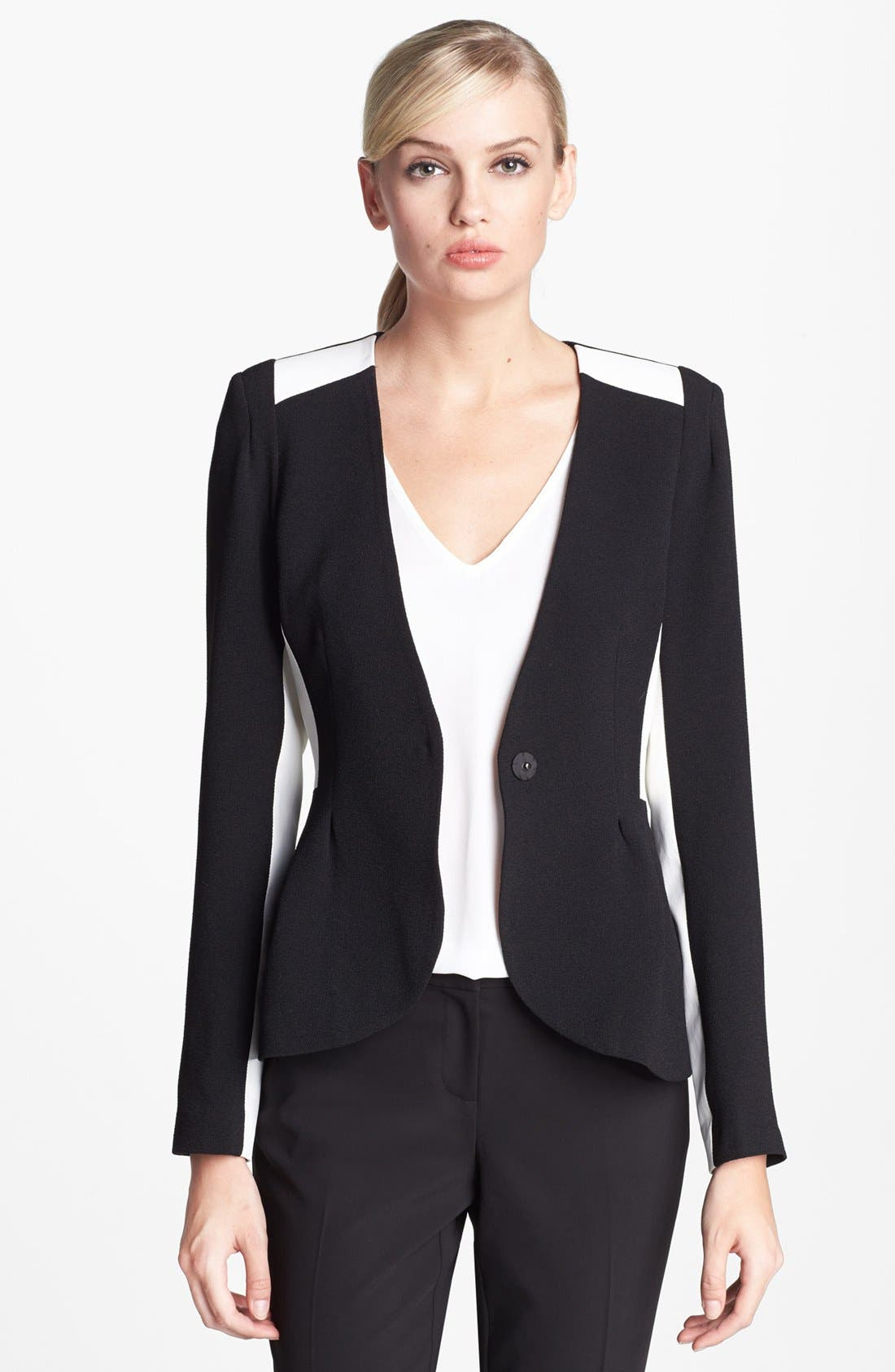 Alternate Image 1 Selected - Pure Sugar Faux Leather Trim Jacket