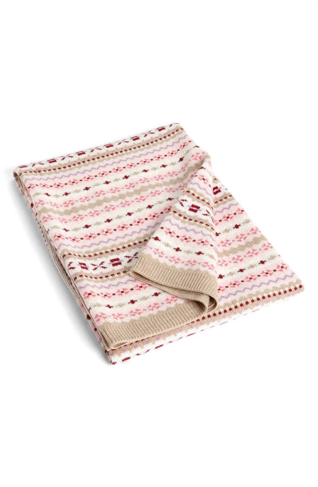 Alternate Image 1 Selected - Nordstrom Baby Cotton & Cashmere Knit Blanket