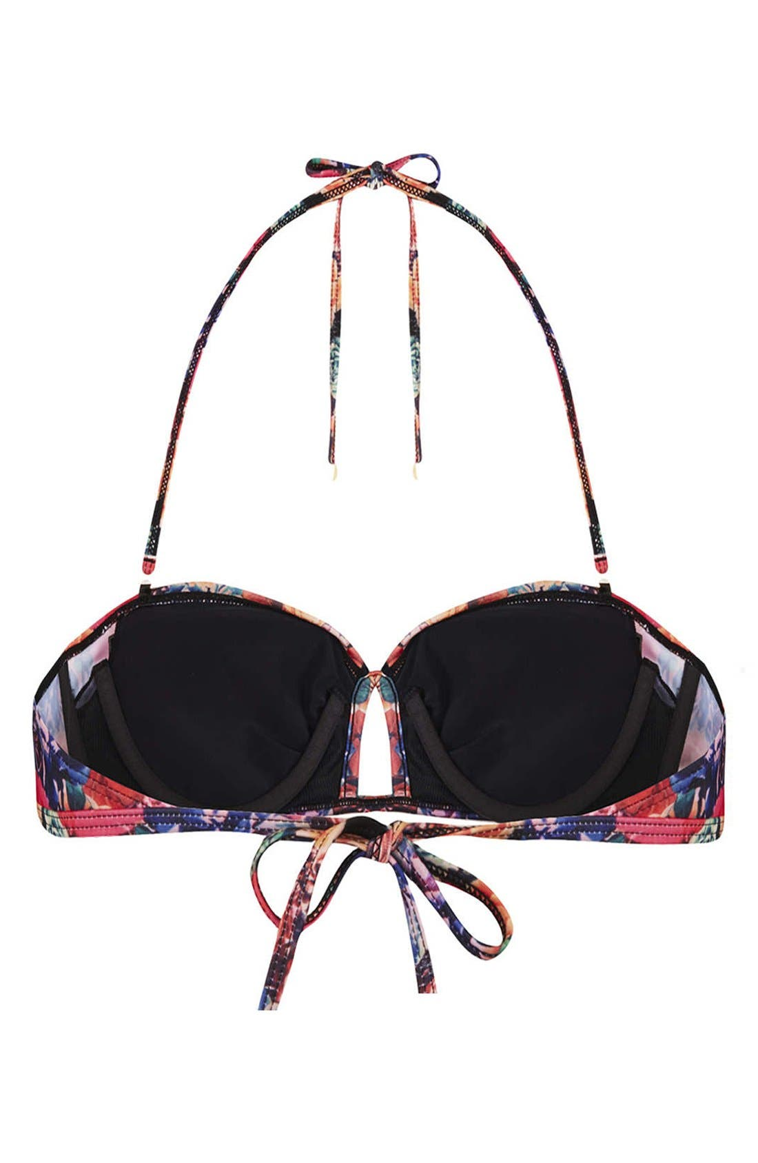 Alternate Image 2  - Topshop 'Trailing Rose' Bandeau Bikini Top