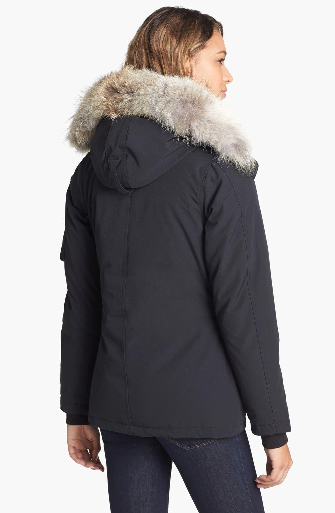 Alternate Image 2  - Canada Goose Montebello Slim Fit Down Parka with Genuine Coyote Fur Trim