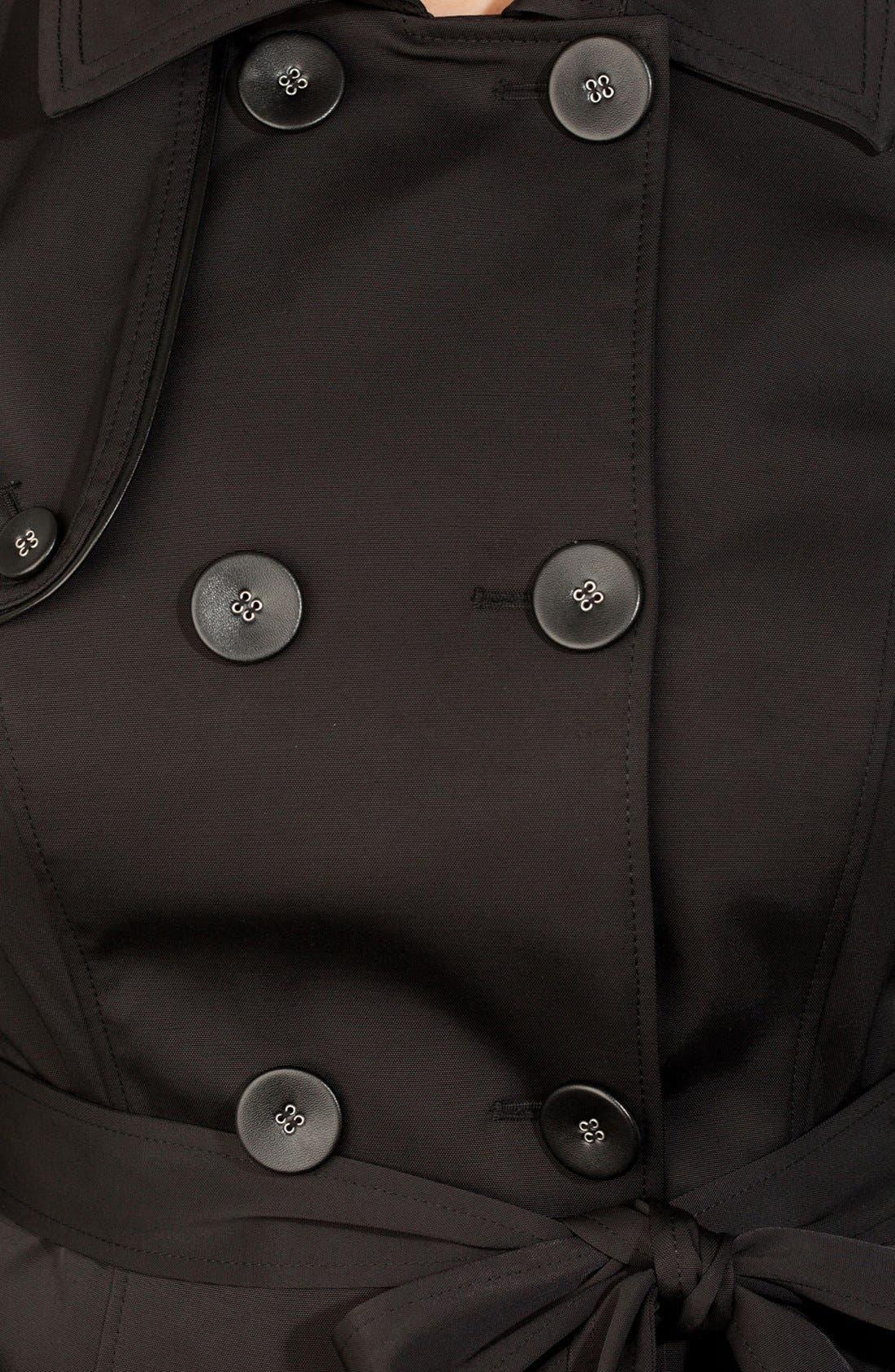 Alternate Image 3  - City Chic Corset Back Trench Coat (Plus Size)