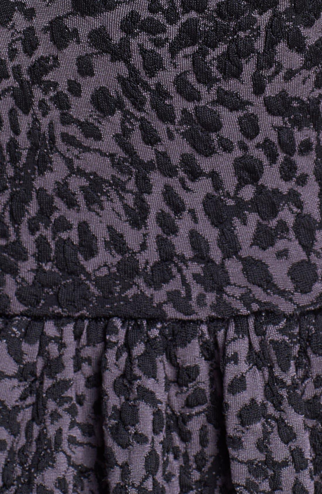 Alternate Image 3  - Jay Godfrey Leopard Jacquard Knit Peplum Dress