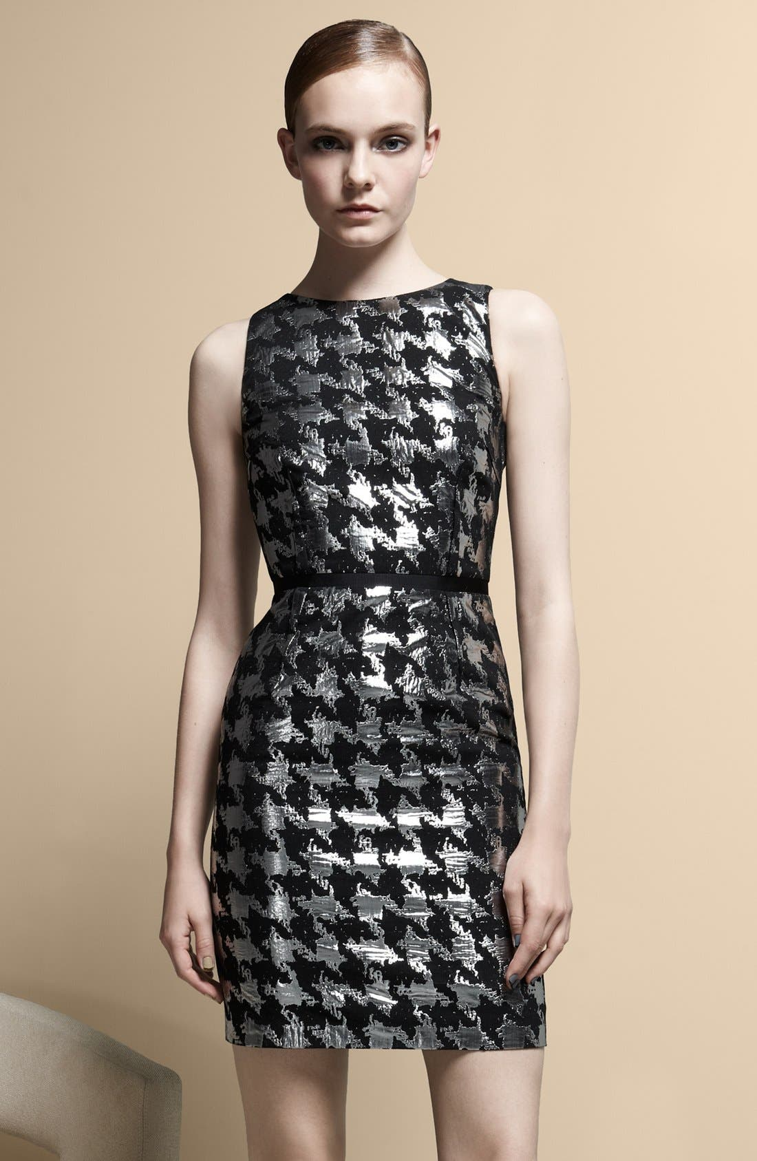 Alternate Image 5  - Michael Kors Metallic Houndstooth Sheath Dress