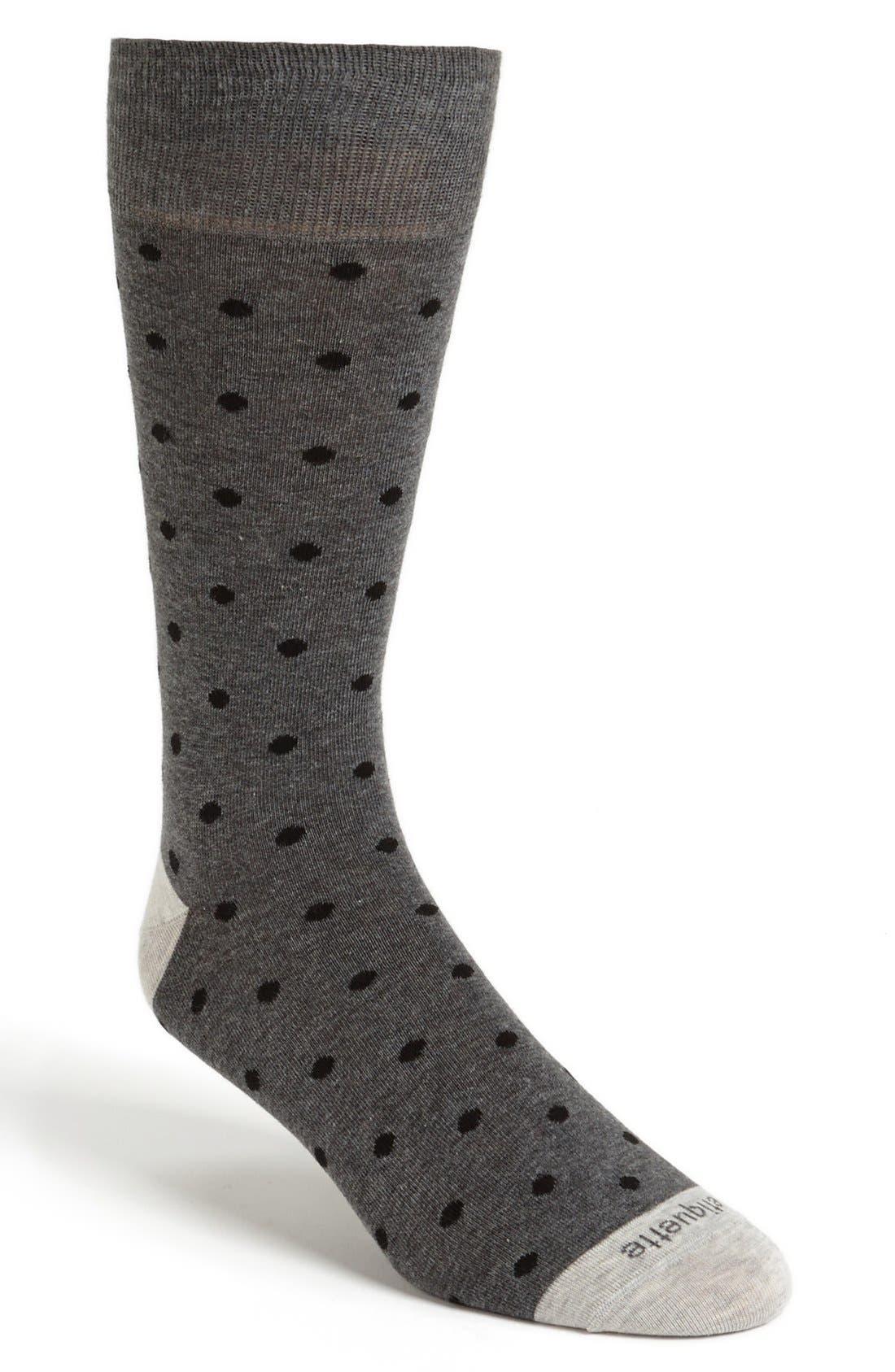 Alternate Image 1 Selected - Etiquette Clothiers Dot Socks