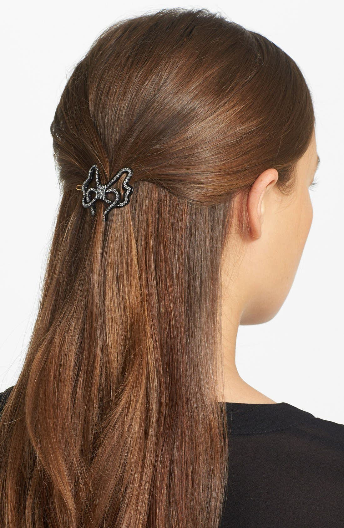 Main Image - France Luxe 'Dashing' Crystal Bow Hair Clip
