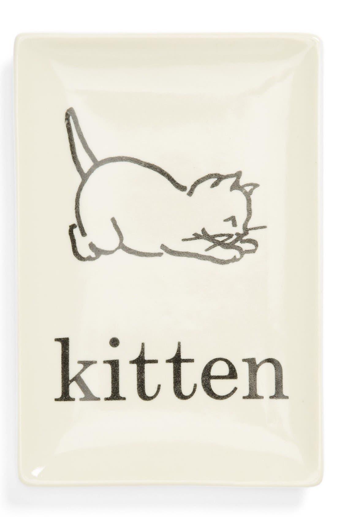 Alternate Image 1 Selected - Rosanna 'Flash Cards - Kitten' Porcelain Tray