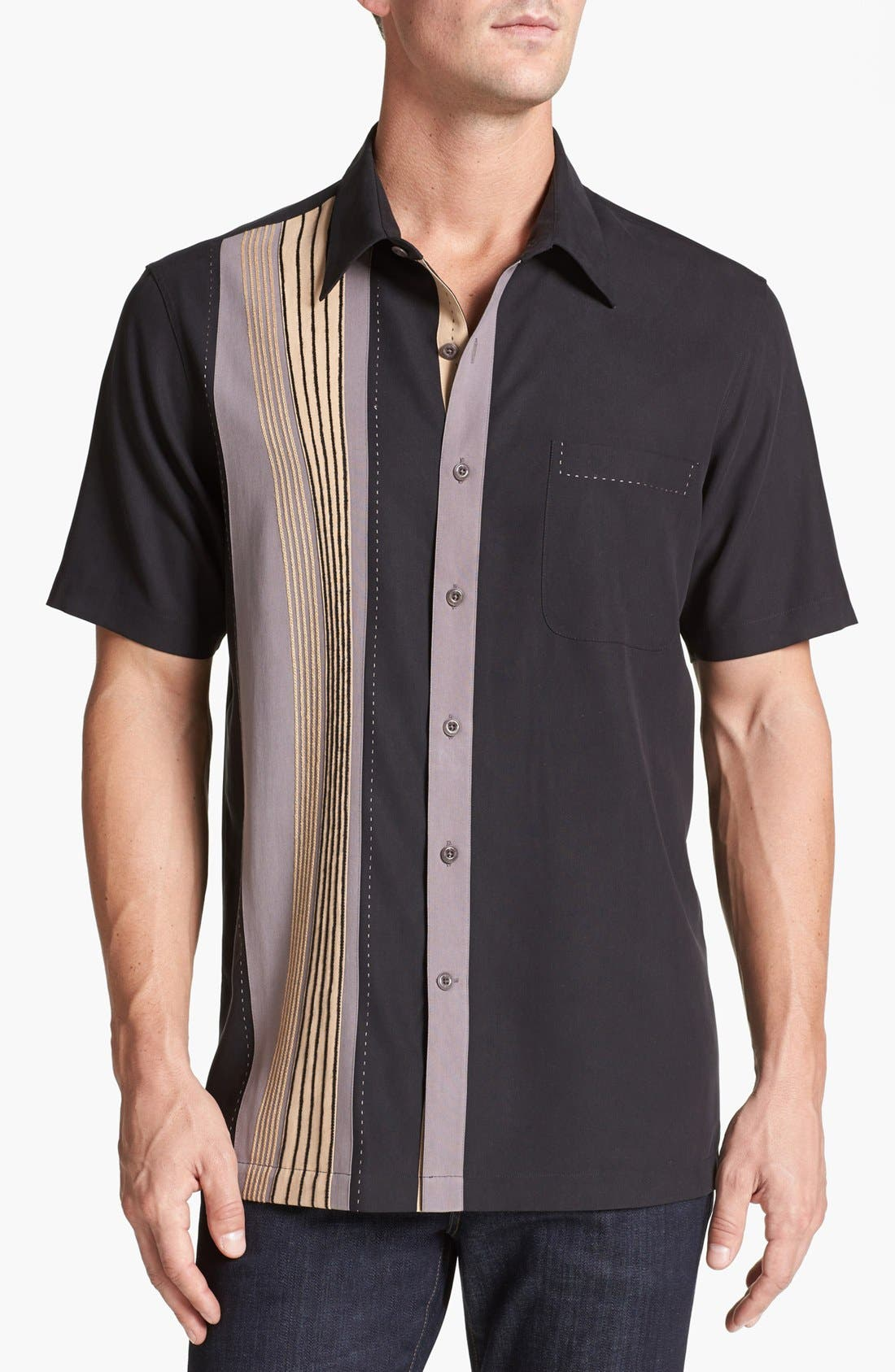 Alternate Image 1 Selected - Nat Nast 'Barzini' Silk Campshirt