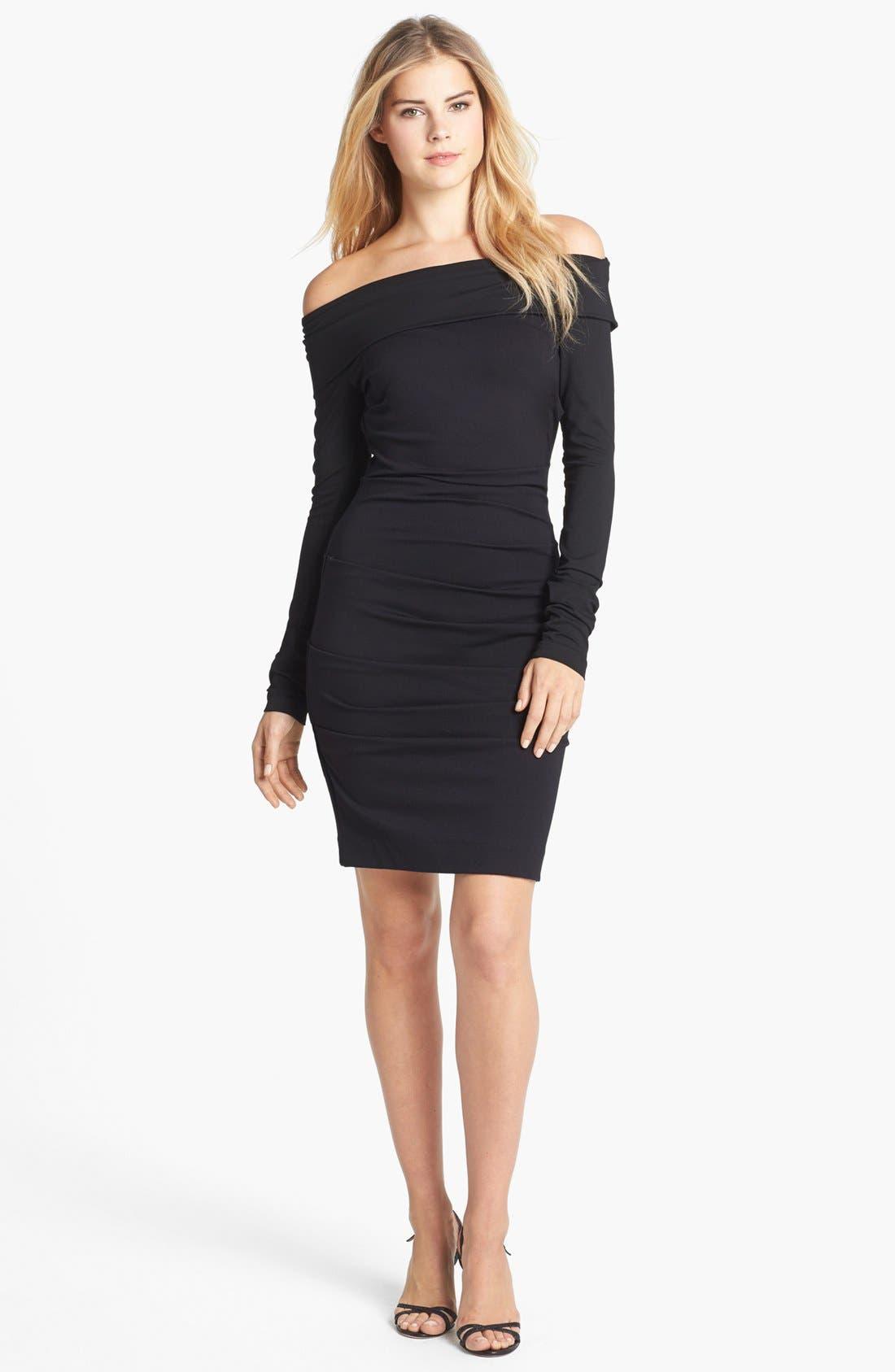Main Image - Nicole Miller Off Shoulder Ponte Knit Sheath Dress