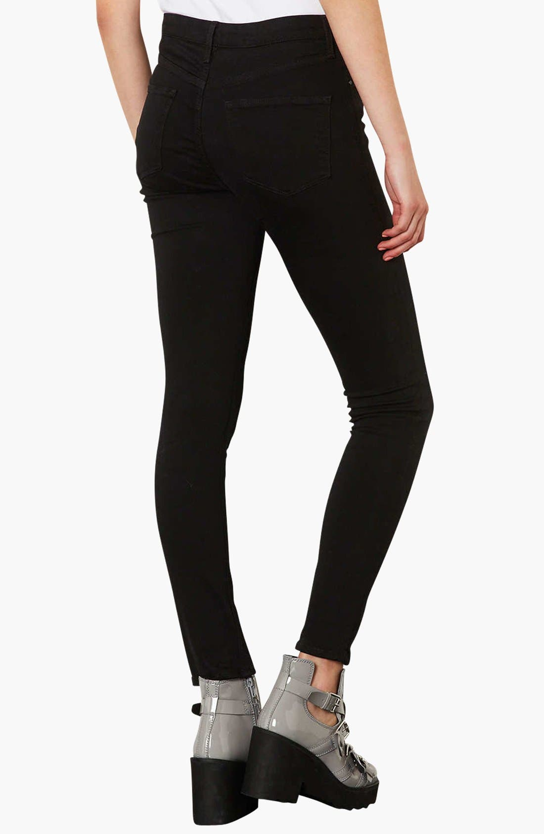 Alternate Image 3  - Topshop Moto 'Jamie' High Rise Skinny Jeans (Regular, Short & Long)