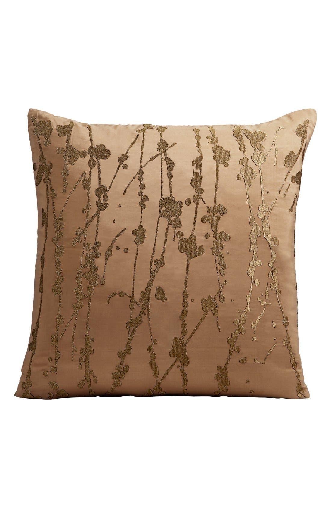 Alternate Image 1 Selected - Donna Karan Metallic Embroidered Pillow