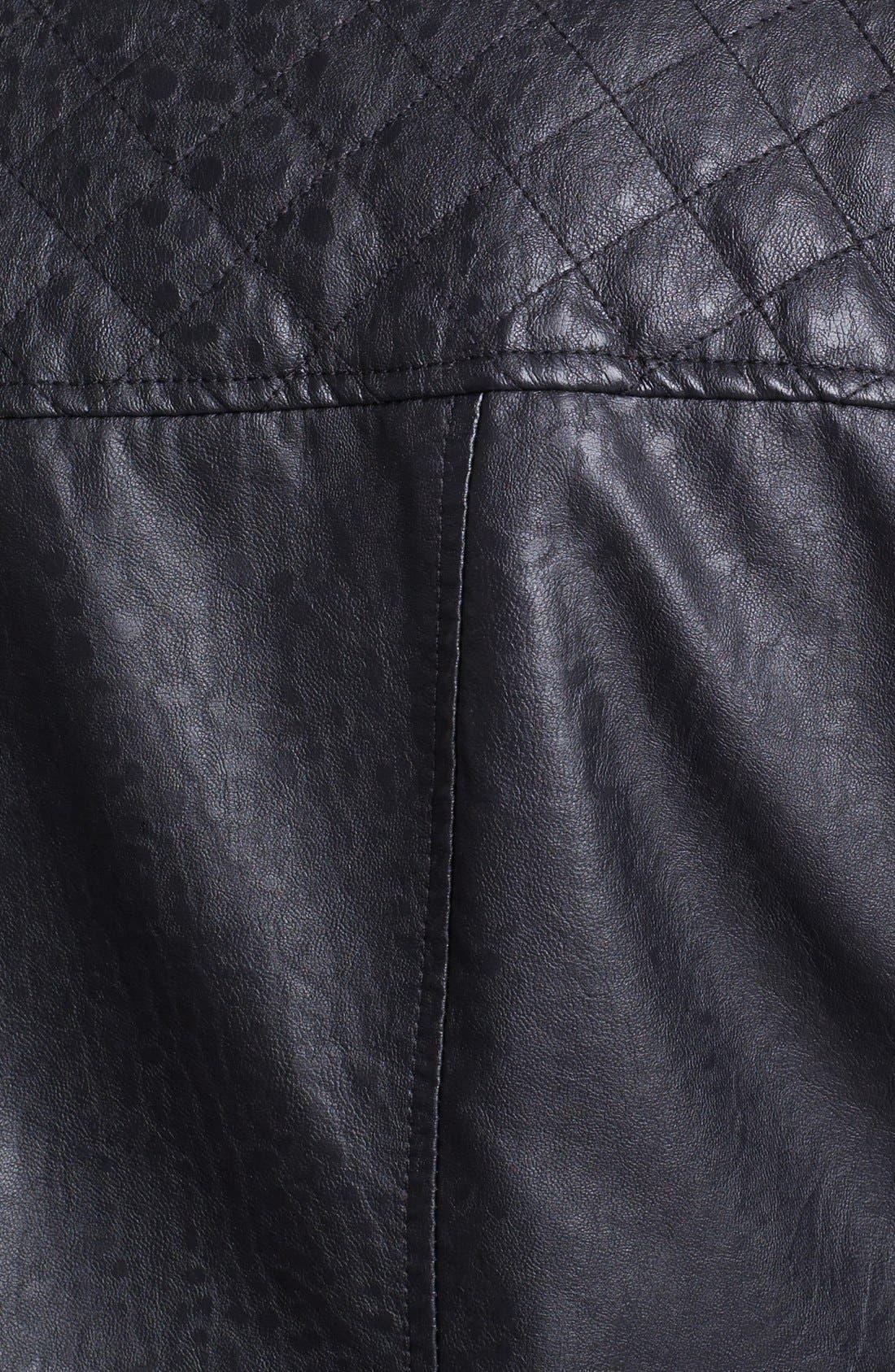 Alternate Image 3  - Bernardo Faux Leather Scuba Jacket (Plus Size)
