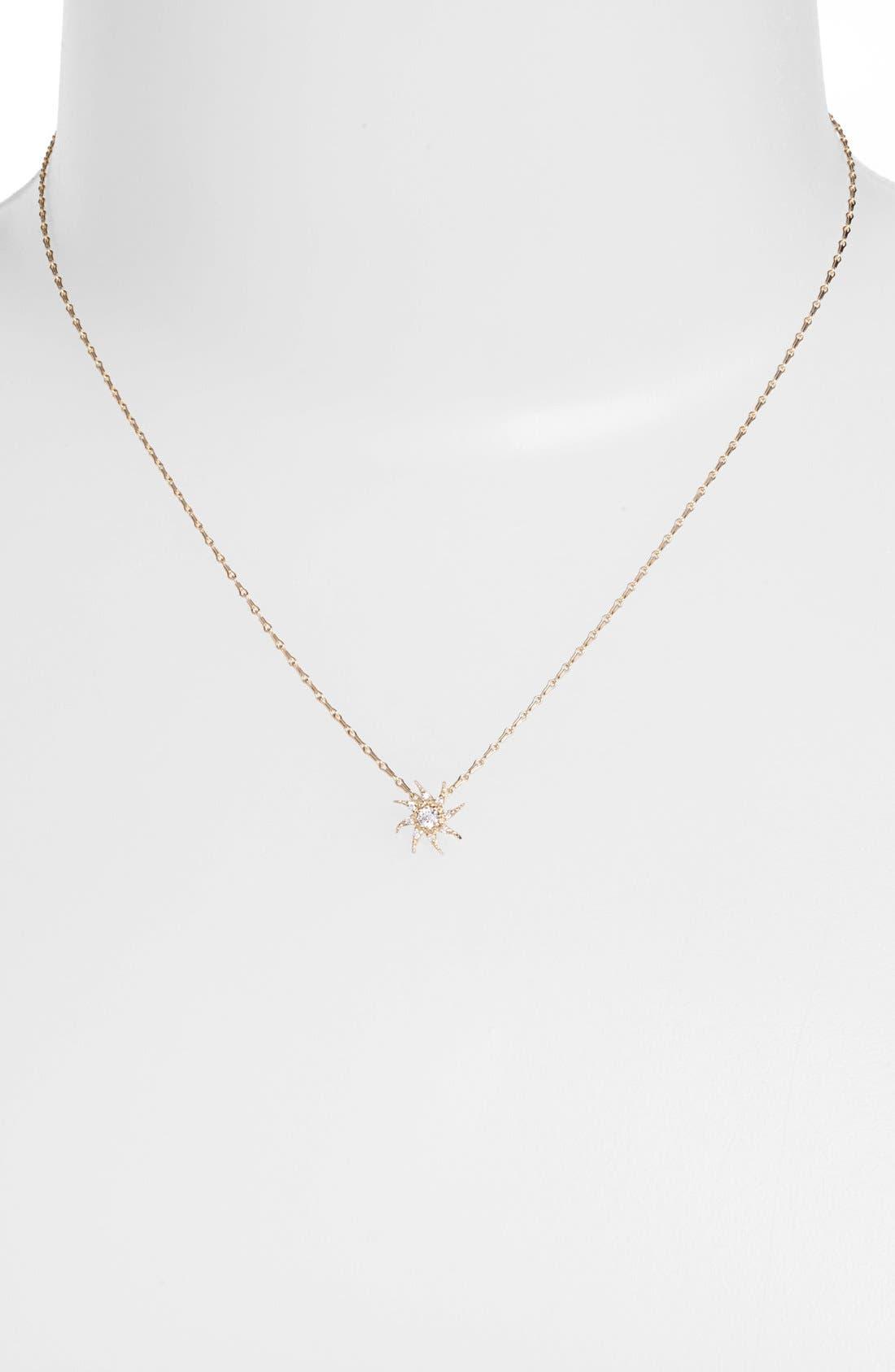 Alternate Image 1 Selected - Mizuki 'Wings of Desire' Diamond Sun Pendant Necklace